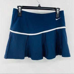 Nike Blue and White Pleated Dri Fit Skort